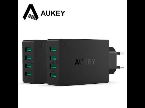 AUKEY  PA-U36  , зарядное устройство для дома  на  4 порта .