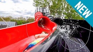Turmbergbad Karlsruhe - Racer Water Slide RedblaXX [NEW 2017] Onride