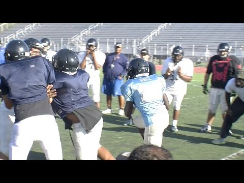 City of San Bernardino Sports Weekly-FOOTBALL: San G Practice, Indian Springs coach Ed McMillon