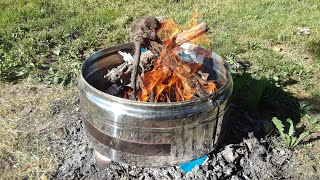 Super easy Homemade free fire pit