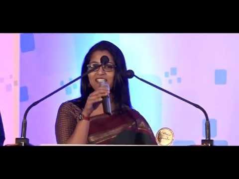 Smruthi Parutthikadu won Best News Presenter Award 2016(female) - Unique Times FMB Award