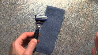 """How To """"Sharpen"""" and reuse An Old Razor Blade Method"""
