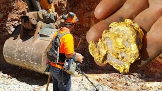 Gold Nuggets with Metal Detector in Gold Mine Australia EN