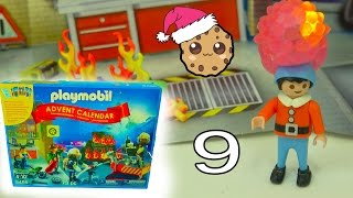 Fireman - Playmobil Holiday Christmas Advent Calendar - Toy Surprise Blind Bags  Day 9