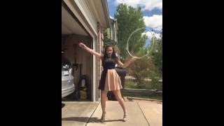 Hula hoop girl ! Stay in shape!