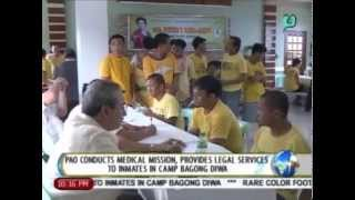 PAO conducts medical mission, provides legal services to inmates in Camp Bagong Diwa