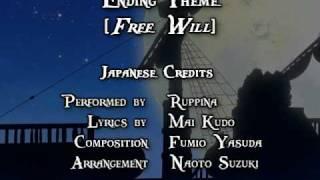 One Piece ED 09 - Free Will (FUNimation English Dub, Sung by Kristine Sa, Subtitled)