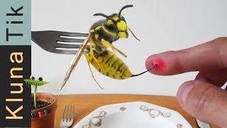 STUNG by a YELLOW JACKET!  Kluna Tik Dinner #81   ASMR eating sounds no talk