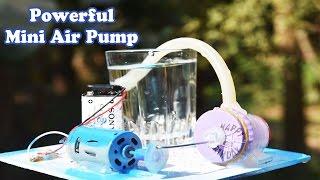 How To Make A Mini Air Compressor (Powerful Air Pump) Using DC Motor - Tutorial