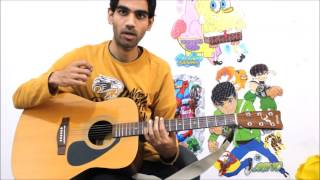 Tum Hi HO - Aashiqui 2 - Complete Guitar Cover Lesson CHords Intro Easy Hindi