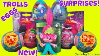 Trolls Dreamworks Surprise Toys Blind Bags Series 2 Chupa Chups Lollipops Plastic Chocolate Eggs Fun
