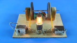 Free Energy Generator Light Bulb Self Running Machine