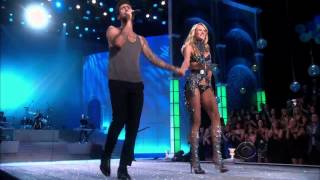 Maroon 5 Moves Like Jagger LIVE HD (Victoria's Secret Fashion Show 2011-Anne Vyalitsyna&Adam Levine)