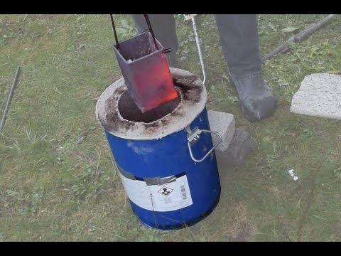 Making a Metal Melting Furnace Simple Effective Propane