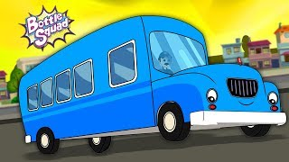 The Wheels On The Bus   Popular Nursery Rhymes   Kids Song & Videos   Bottle Squad Rhymes