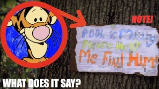 TIGGER LEFT ME A NOTE IN MY WOODS! *Winnie the Pooh IRL*