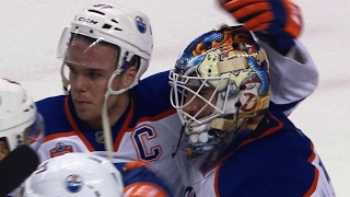 Oilers and Sharks show respect at end of tough series