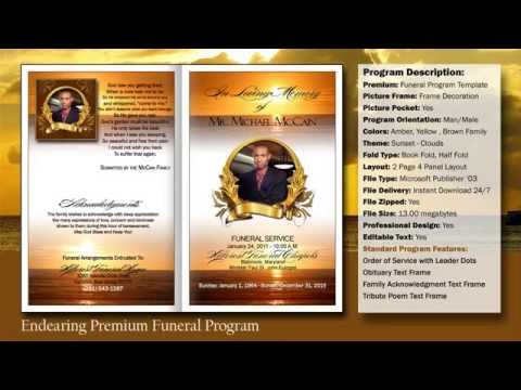 Doc549424 Download Funeral Program Template Free Funeral – Free Funeral Templates Download