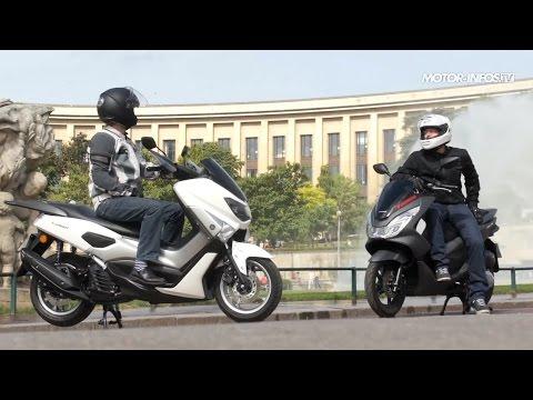Comparatif scooter Yamaha N Max 125 versus Honda PCX 125