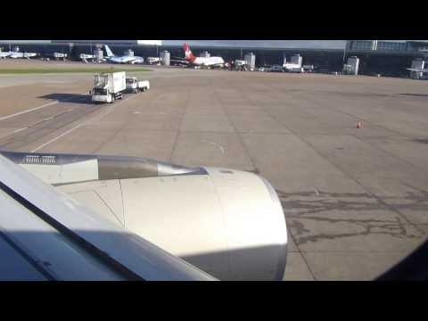 ETIHAD AIRWAYS A330 200 ON BOARD push back engine start taxi & take off from Manchester Airport