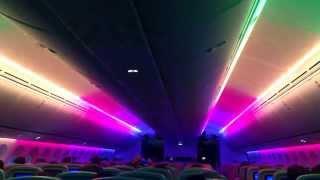 Boeing 787 Dreamliner LED Cabin Show On Thomson Transatlantic Flight