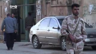 جانب من حماية الجيش_الحر للمدنيين في مدينة طفس بريف  درعا أثناء صلاة العيد
