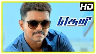Theri movie | Vijay saves children from streets | Road Fight scene | Samantha | Boxer Dheena