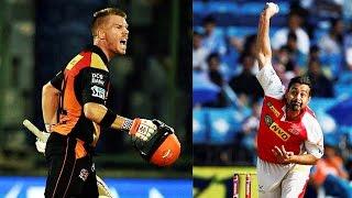 Praveen Kumar lost his temper on David Warner during SRH vs GL | Oneindia News