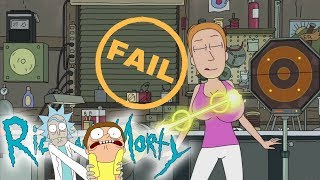 Rick and Morty - Summer's Boobs epic FAIL!!!