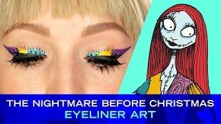 Nightmare Before Christmas Eyeliner Art with Vlada Haggerty | Disney Style