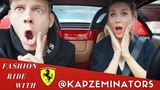 FERRARI FASHION RIDE with MĀRTIŅŠ KAPZEMS // Episode 4 // Girl driving a Ferrari