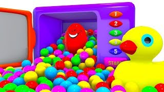 Fun Colors With DUCK DUCK MicroWave Ball Pit Show for Kids & Color for Children