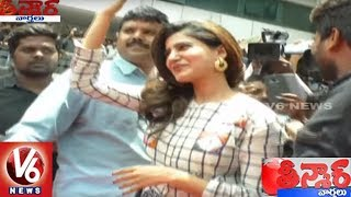 Actress Samantha Launches Big C Mobile Stores In Warangal || Teenmaar News