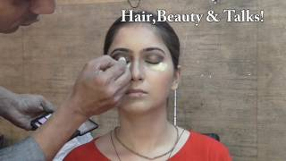 Indian Evening Party Makeup ( Tutorial in Hindi)
