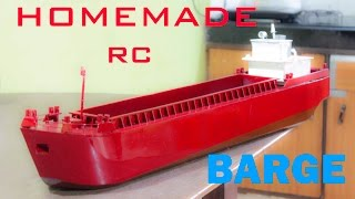 Home made Self propelled RC barge/ Inland Vessel