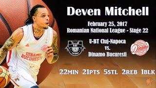2017.02.25 Deven Mitchell at U-BT Cluj - ST22