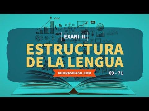 Guía EXANI-II   Estructura de la lengua (69, 70 y 71)