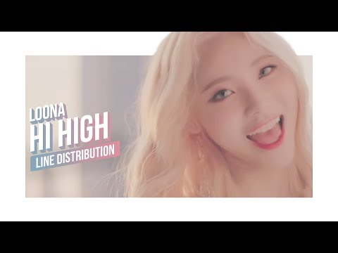 LOONA - Hi High Line Distribution (Color Coded) | 이달의 소녀