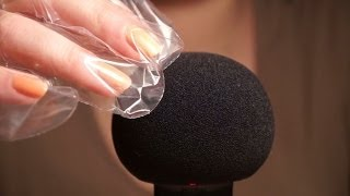 ASMR. Touching the Microphone with Crinkly Plastic Gloves