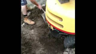 Stewy gets forklift bogged