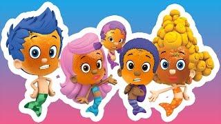 Bubble Guppies Finger Family Nursery Rhymes for Kids | Orange Finger Family