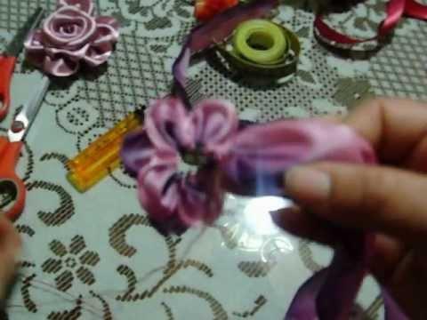 33 DIY flor armada pensamiento en cintas Iztac Madrigal