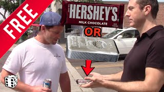 People Choose Free Candy Bar over Free 10 oz Silver Bar (Worth $200) in Social Experiment