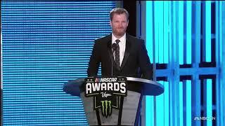 Dale Jr. gives heartfelt speech to honor Truex Jr.
