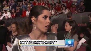Paulina y Ariadna en al alfombra roja de Premio Lo Nuestro