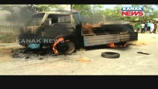 Public Burn Truck As A Student Dies of Truck Accident In Balasore
