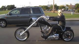 The Ghost Rider in Myrtle beach on Chopper (Halloween)
