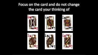 Card Trick Reading Mind (Optical Illusion)