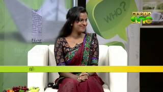 Aswathy Srikanth as guest in MediaOne Morning Show
