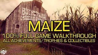 Maize - 100% Full Game Walkthrough - All Achievements/Trophies & Collectibles (Folios)